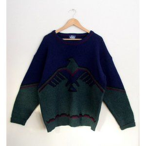 Vintage 80s Woolrich Mens Eagle Sweater